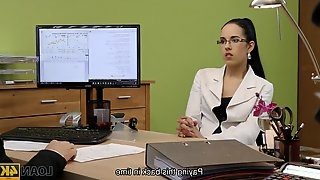 Elis is a cock loving brunette who has managed to get fucked even during a job interview